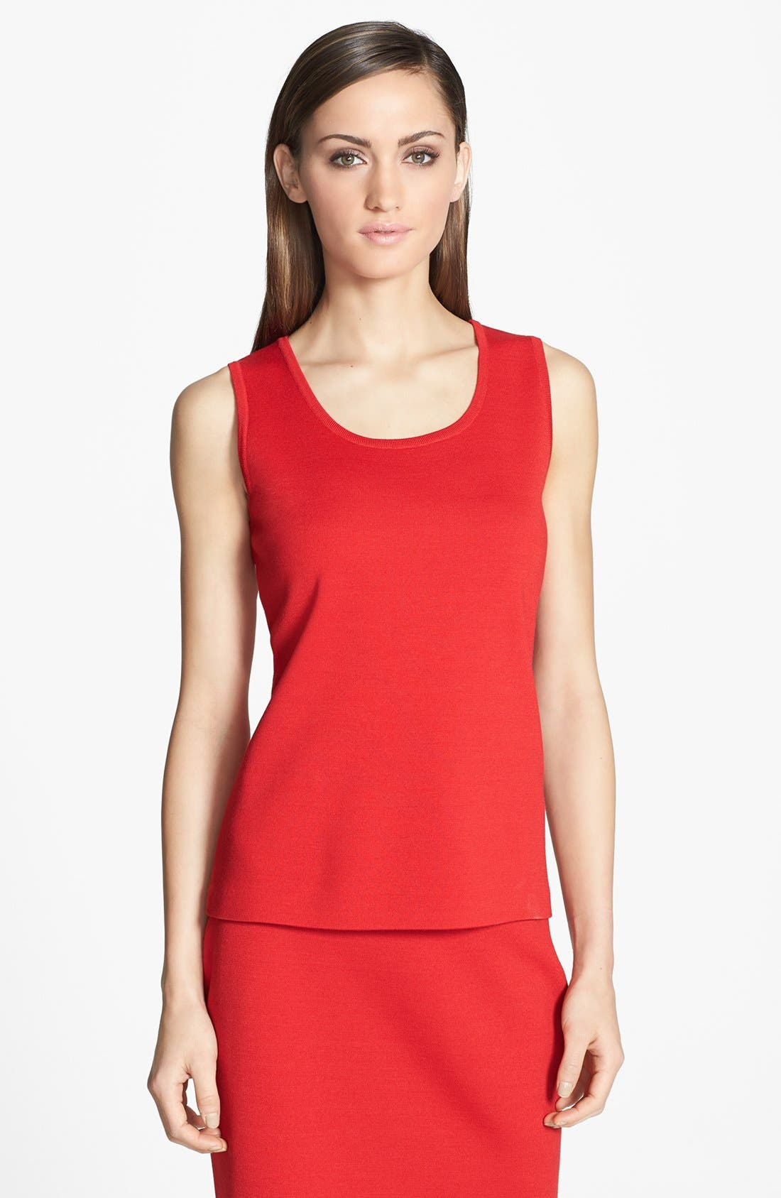 Alternate Image 1 Selected - St. John Collection Milano Knit Contour Tank