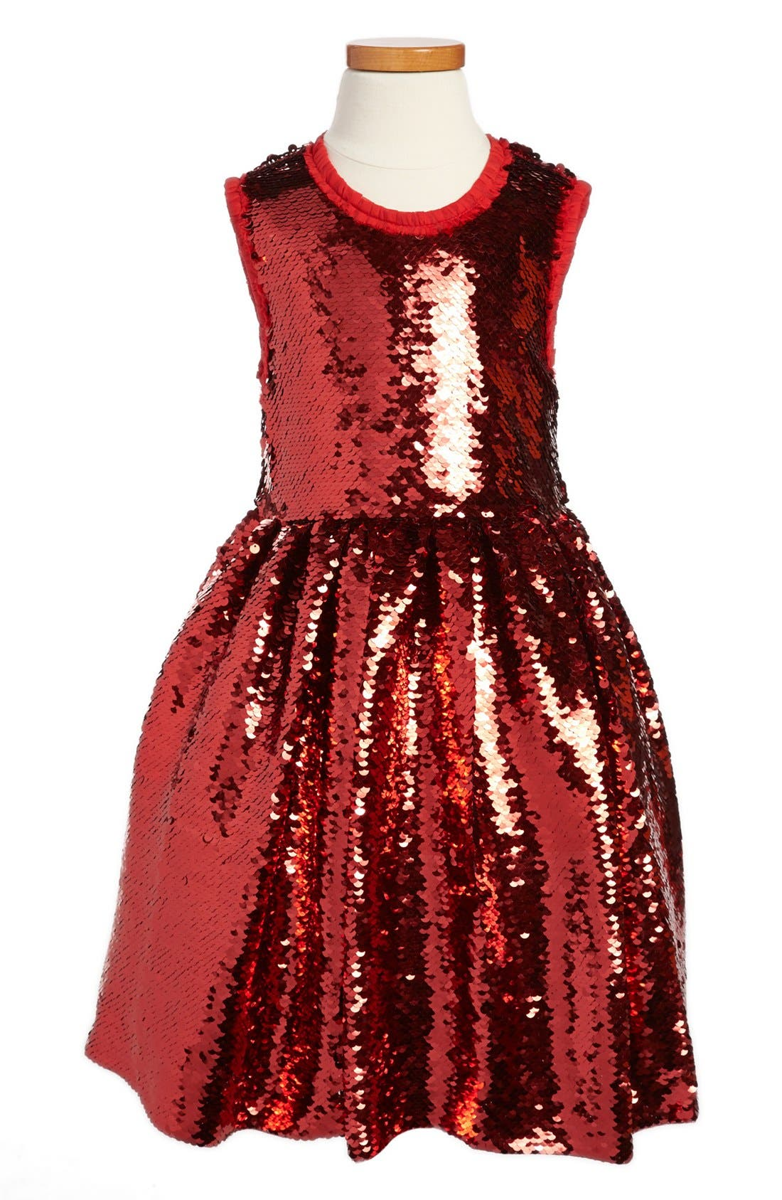 Alternate Image 1 Selected - Dolce&Gabbana Sleeveless Dress (Little Girls & Big Girls)