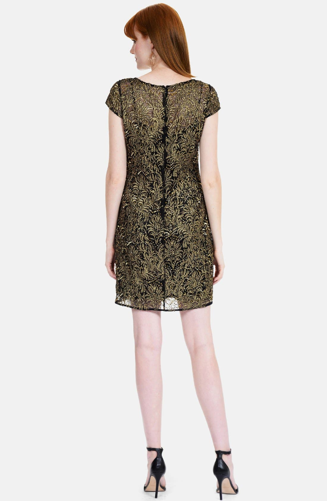 Alternate Image 2  - Kay Unger Embroidered Shift Dress