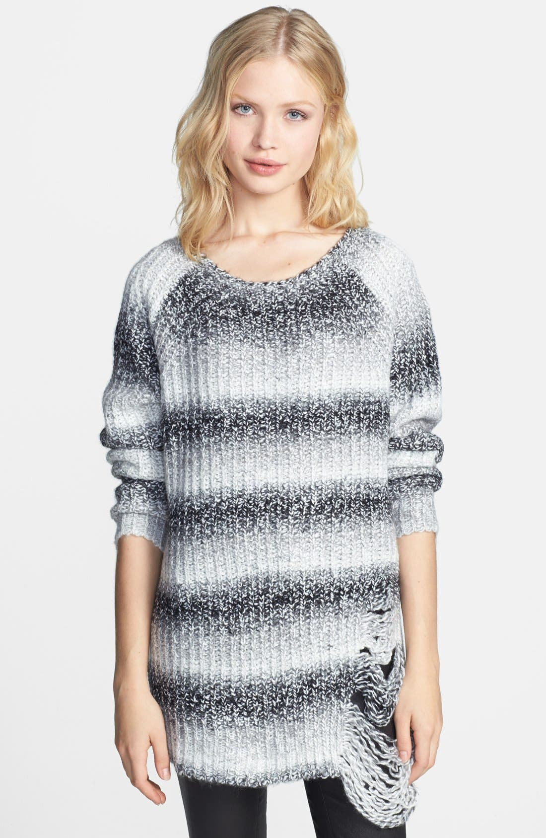 Alternate Image 1 Selected - ELEVENPARIS 'Tinter' Destroyed Marled Sweater