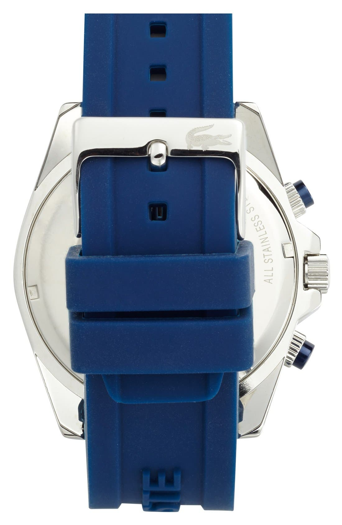 Alternate Image 2  - Lacoste 'Seattle' Chronograph Silicone Strap Watch, 44mm