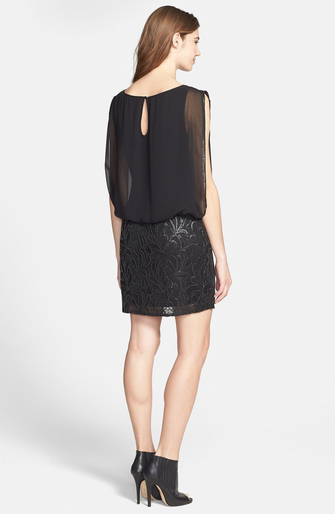 Alternate Image 3  - Aidan Mattox Embellished Chiffon Blouson Dress