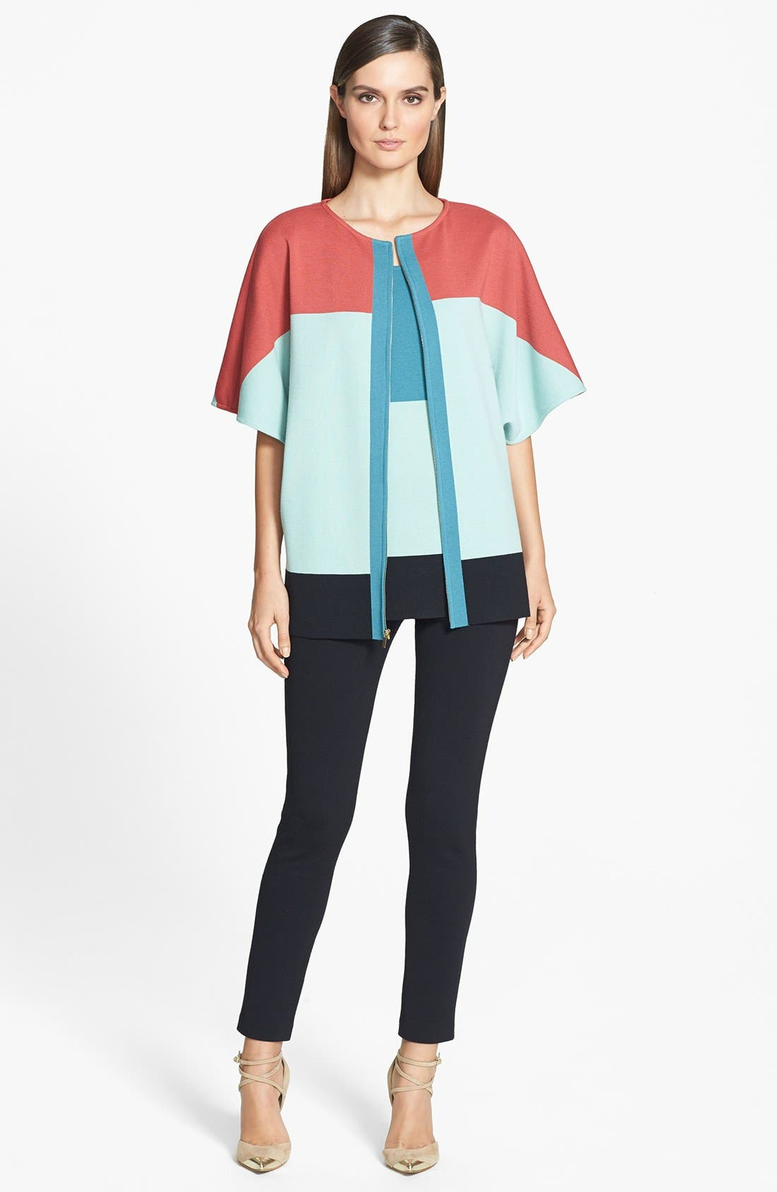 Alternate Image 2  - St. John Collection Colorblock Milano Knit Sleeveless Tunic