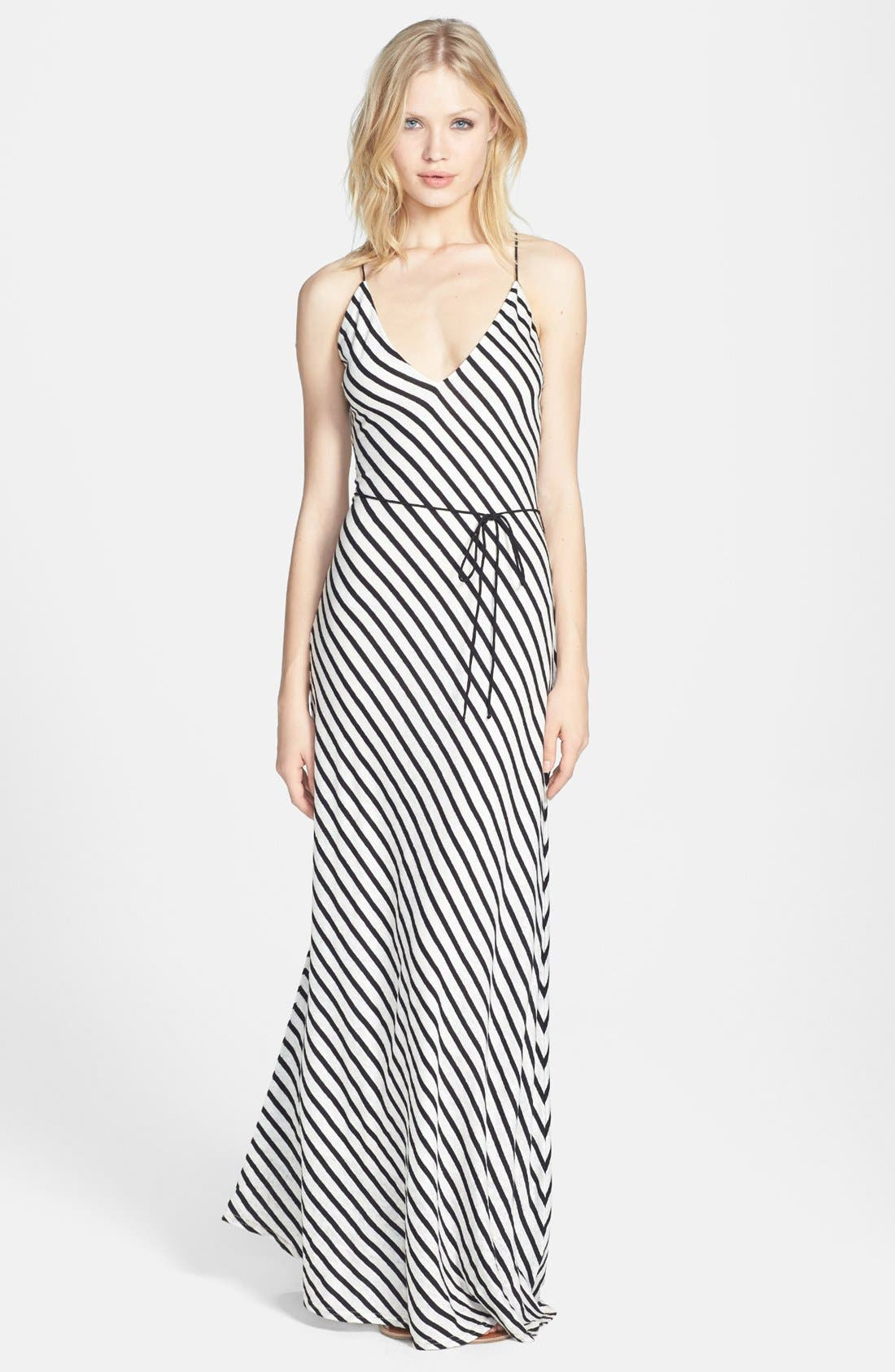 Alternate Image 1 Selected - Dolce Vita Linen & Cotton Stripe Maxi Dress