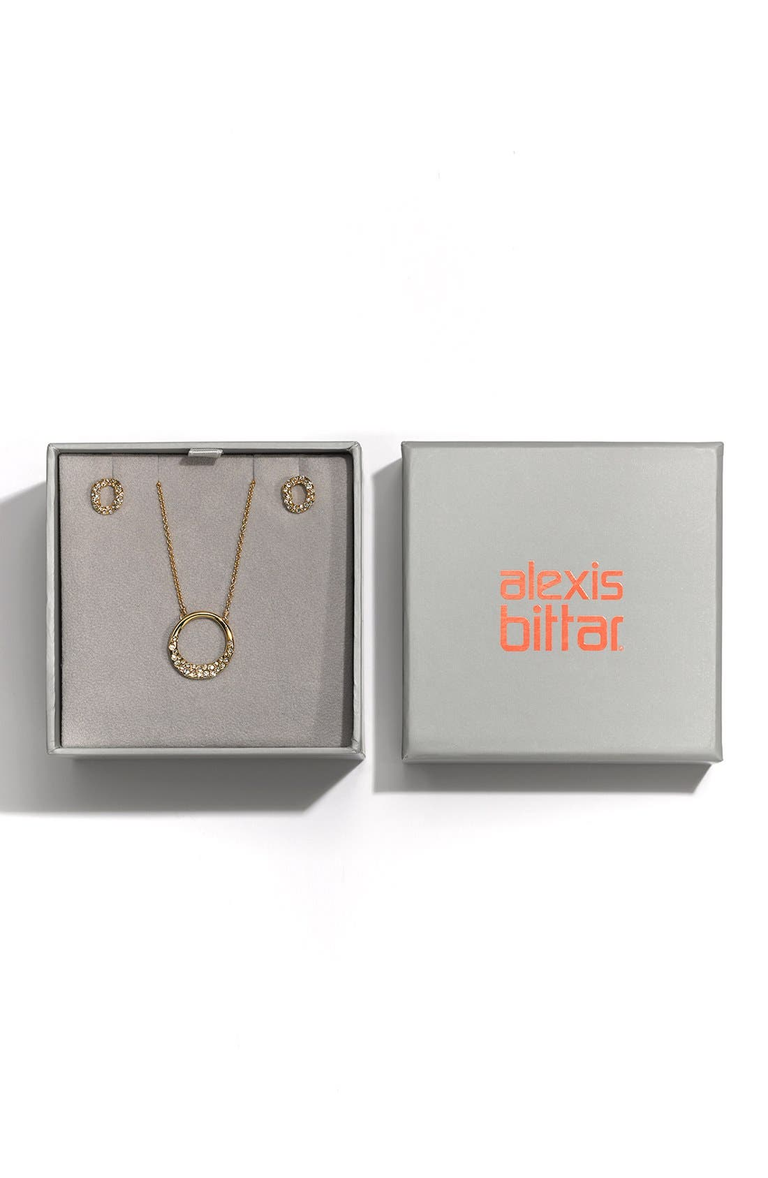 Alternate Image 4  - Alexis Bittar Boxed Stud Earrings & Necklace Set