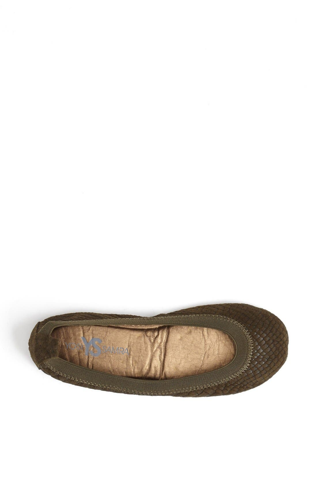 Alternate Image 3  - Yosi Samra Croc Embossed Foldable Ballet Flat