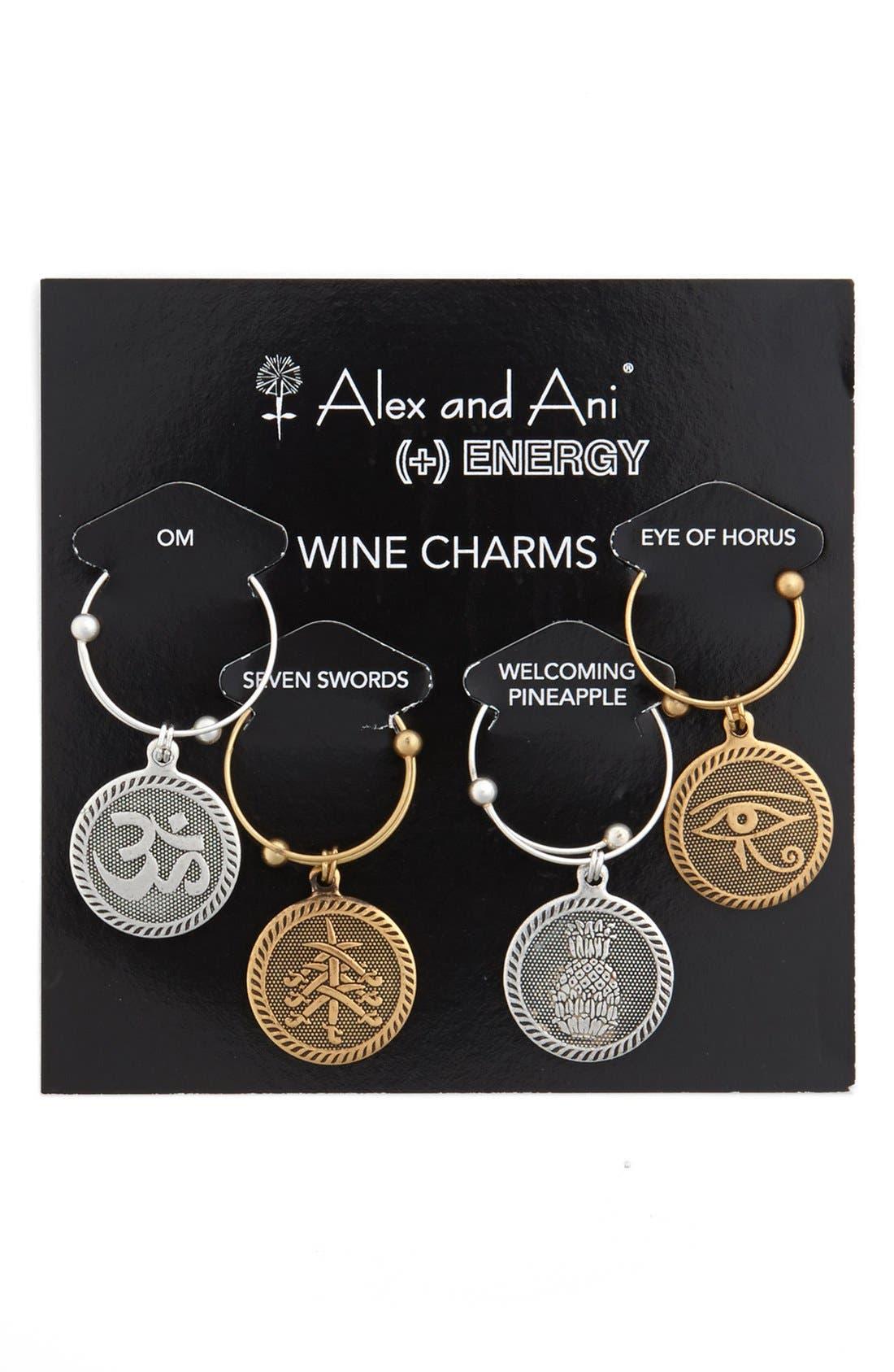 Main Image - Alex and Ani 'Spirit' Wine Charms (Set of 4)