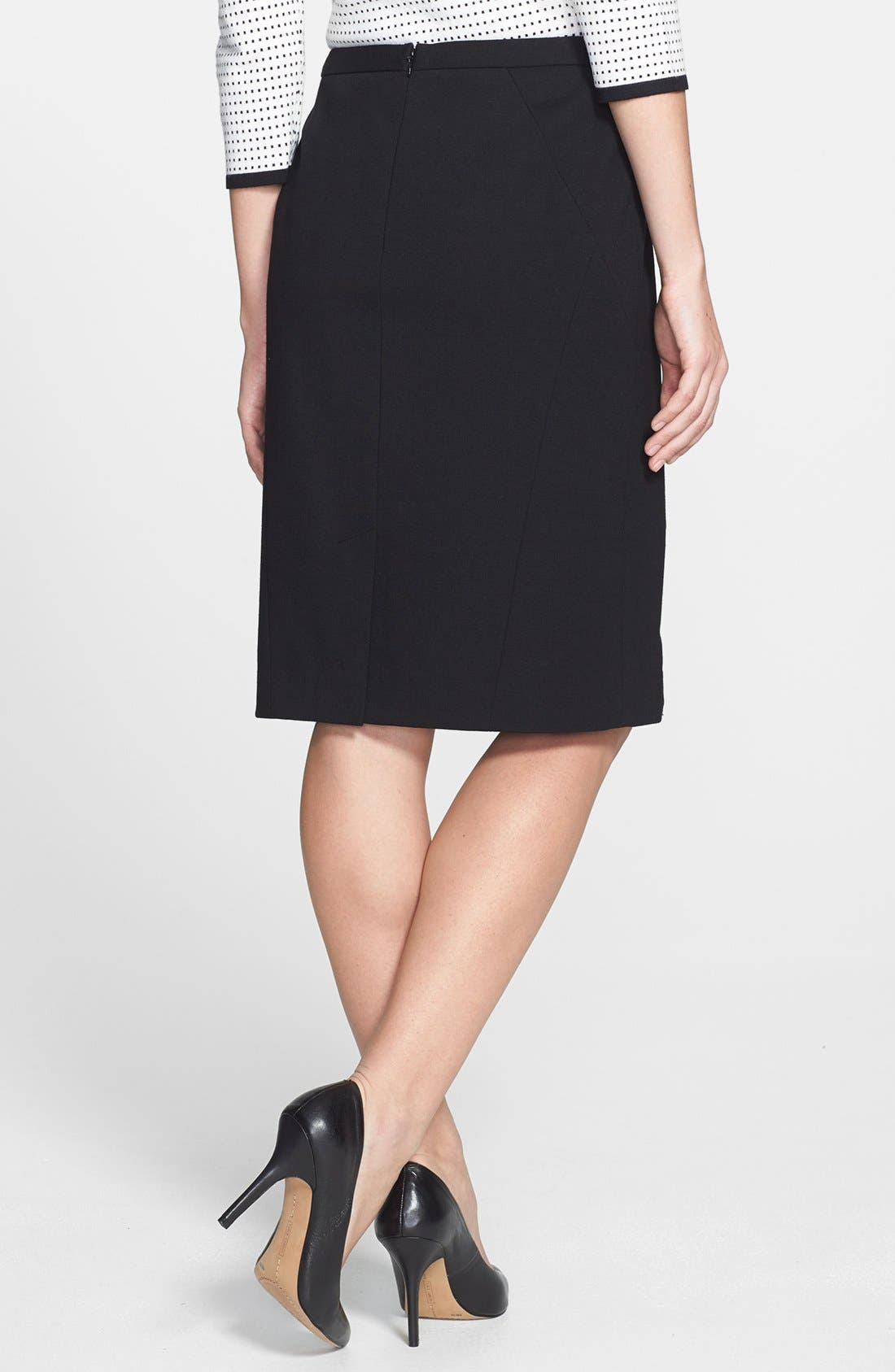 Alternate Image 2  - Classiques Entier® Double Knit Ponte Pencil Skirt