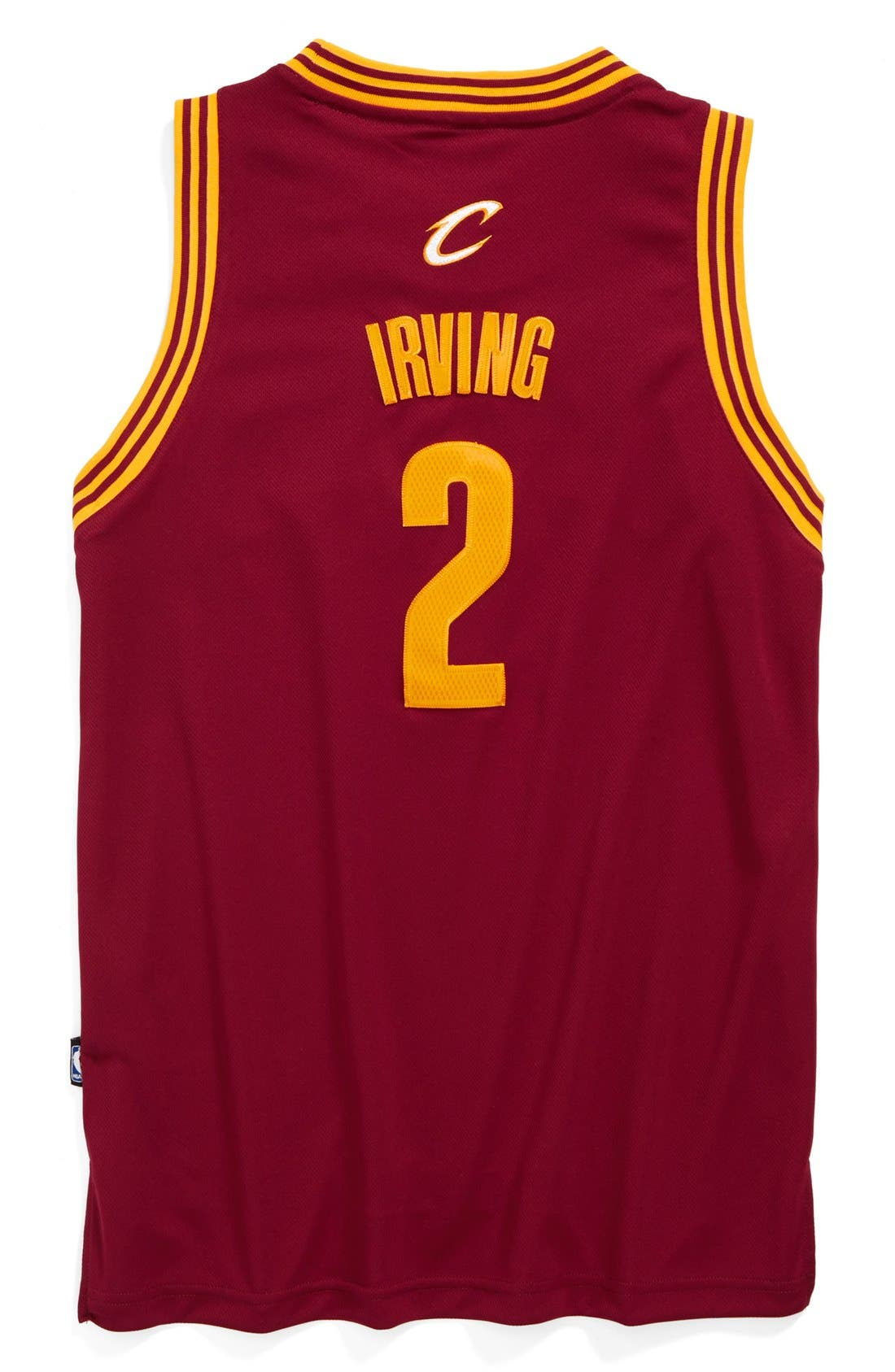 Alternate Image 2  - adidas 'Cleveland Cavaliers, Kyrie Irving - Swingman Road' Jersey (Big Boys)