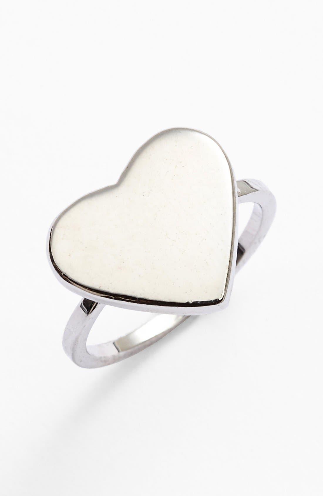 Main Image - Topshop Smooth Heart Midi Ring