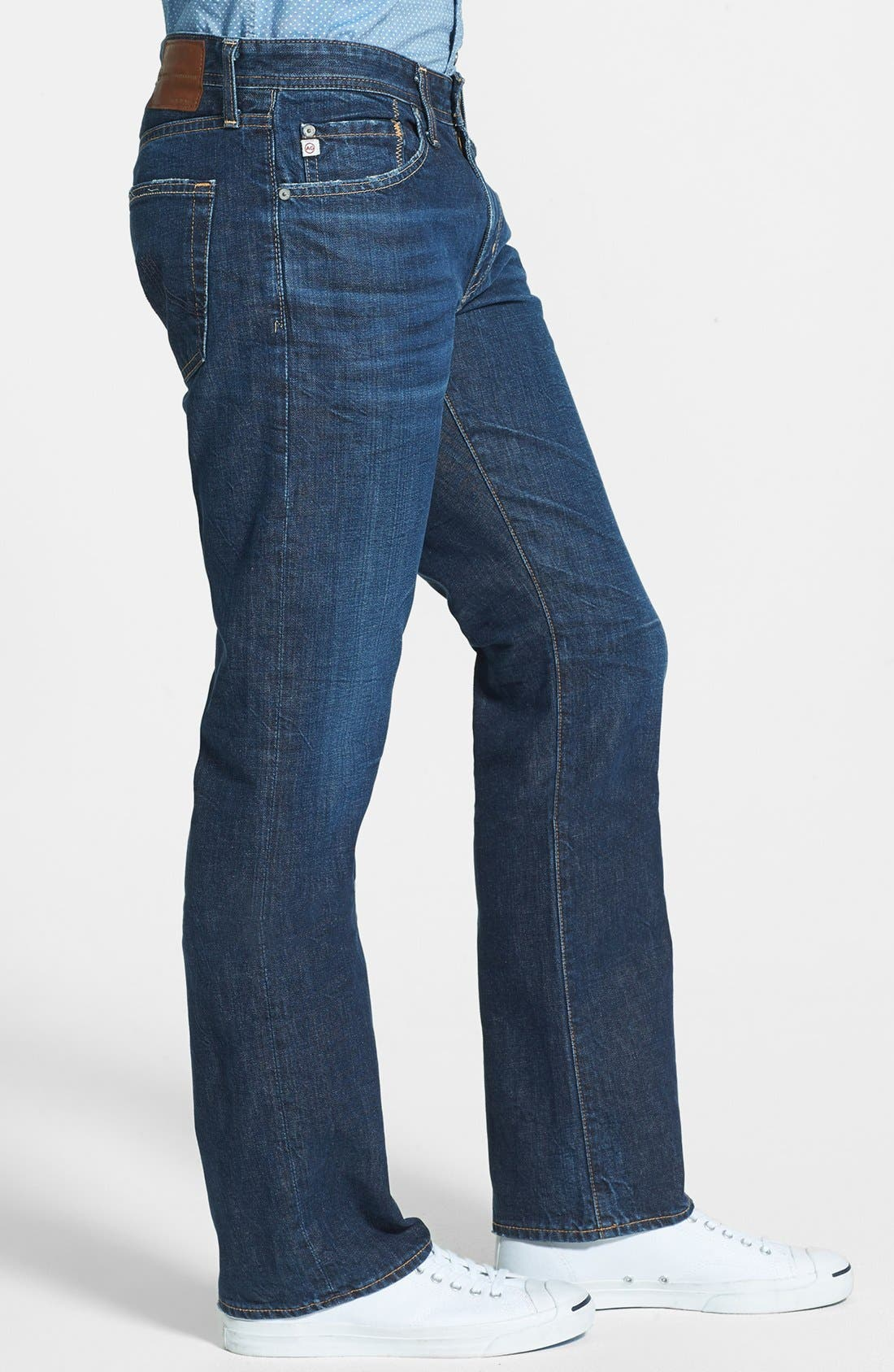 Alternate Image 3  - AG 'Protégé' Straight Leg Jeans (Five Year Field)