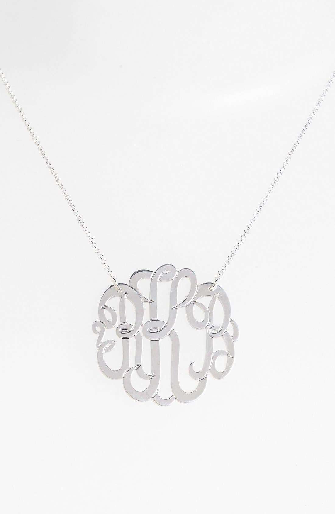 Alternate Image 1 Selected - Argento Vivo Personalized Large 3-Initial Letter Monogram Necklace (Nordstrom Exclusive)