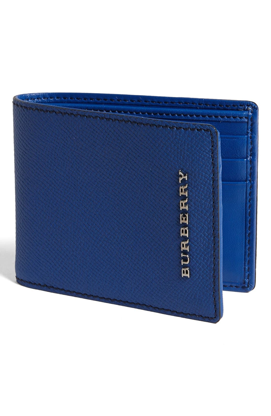 Alternate Image 1 Selected - Burberry Bifold Leather Wallet