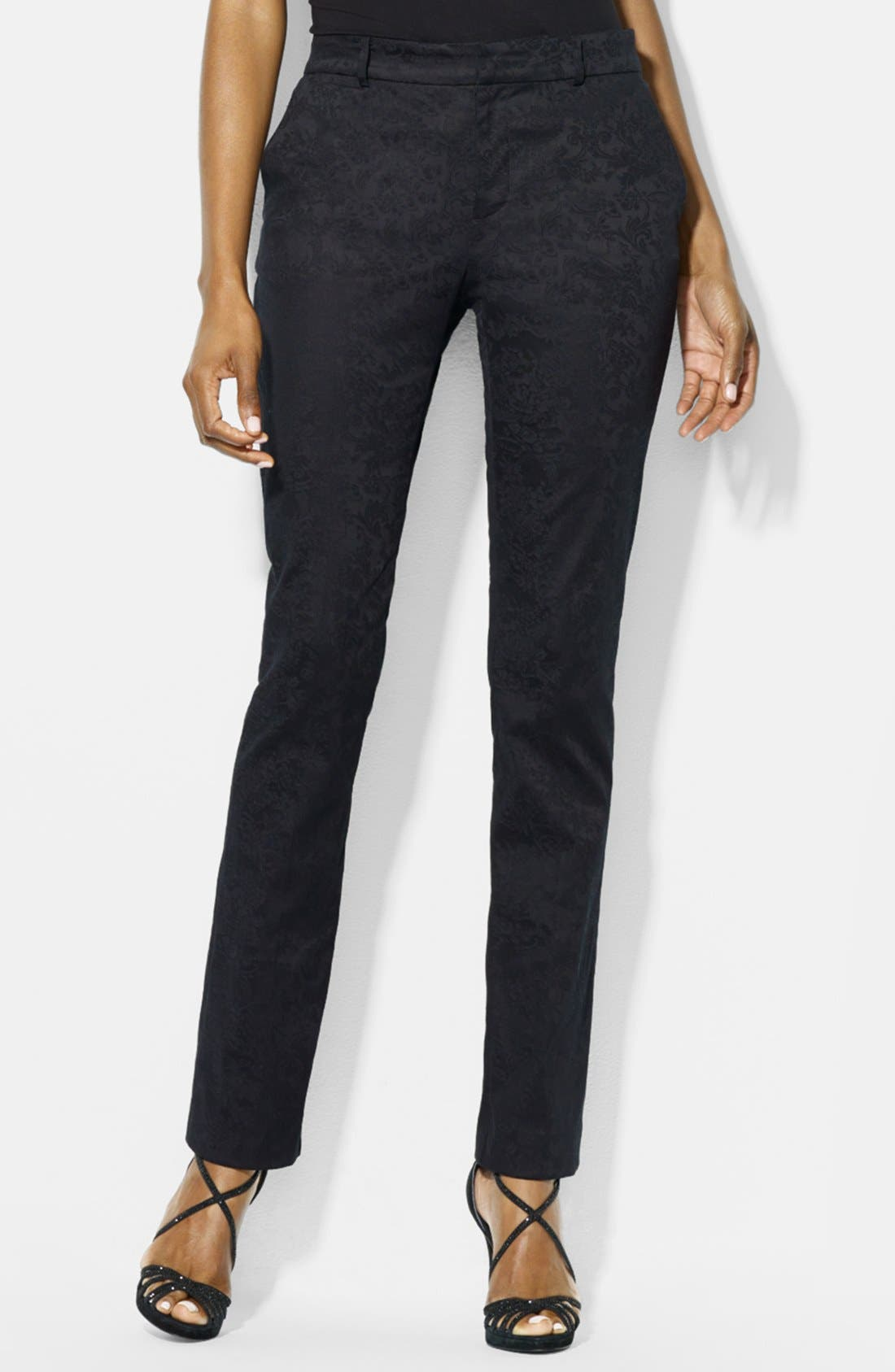 Alternate Image 1 Selected - Lauren Ralph Lauren Tapestry Jacquard Pants (Petite)
