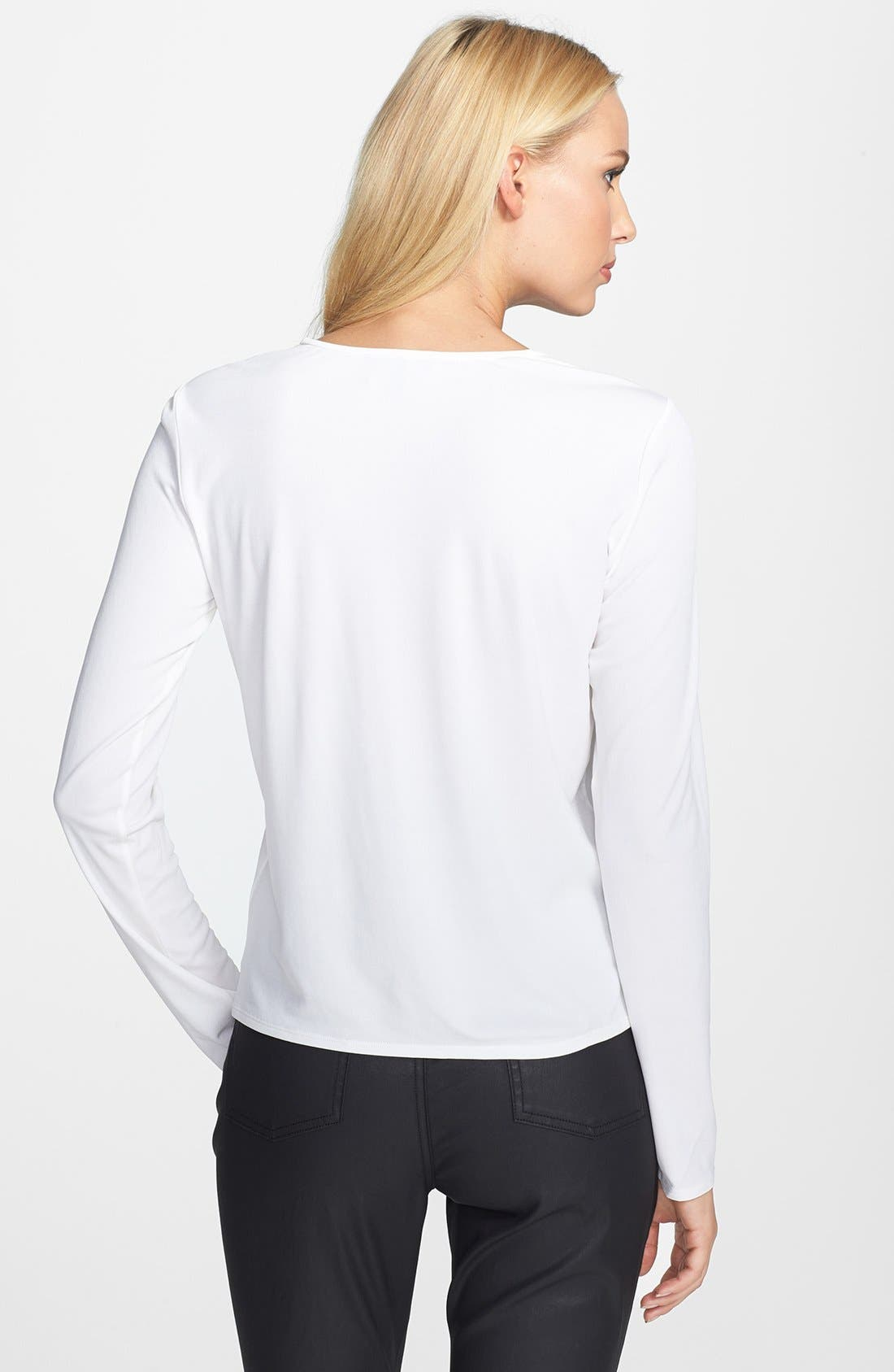 Alternate Image 2  - Eileen Fisher Silk Tee (Regular & Petite)