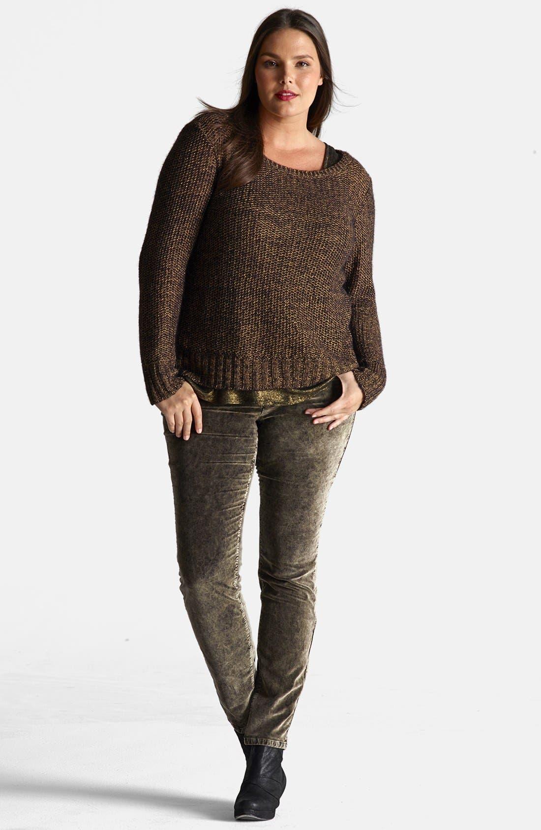 Alternate Image 4  - Eileen Fisher Metallic Sweater (Plus Size)