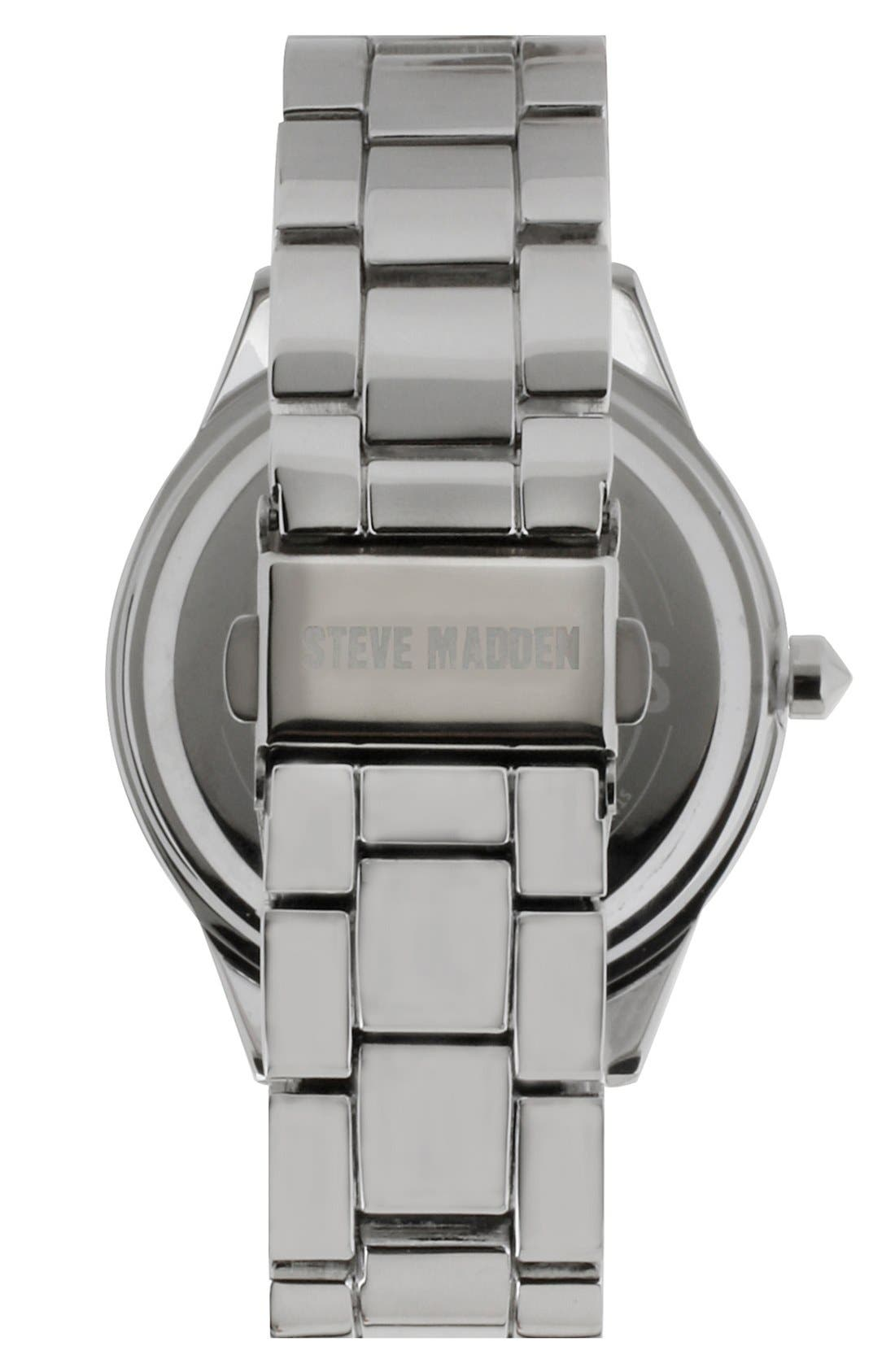 Alternate Image 2  - Steve Madden Round Colored Dial Bracelet Watch, 40mm