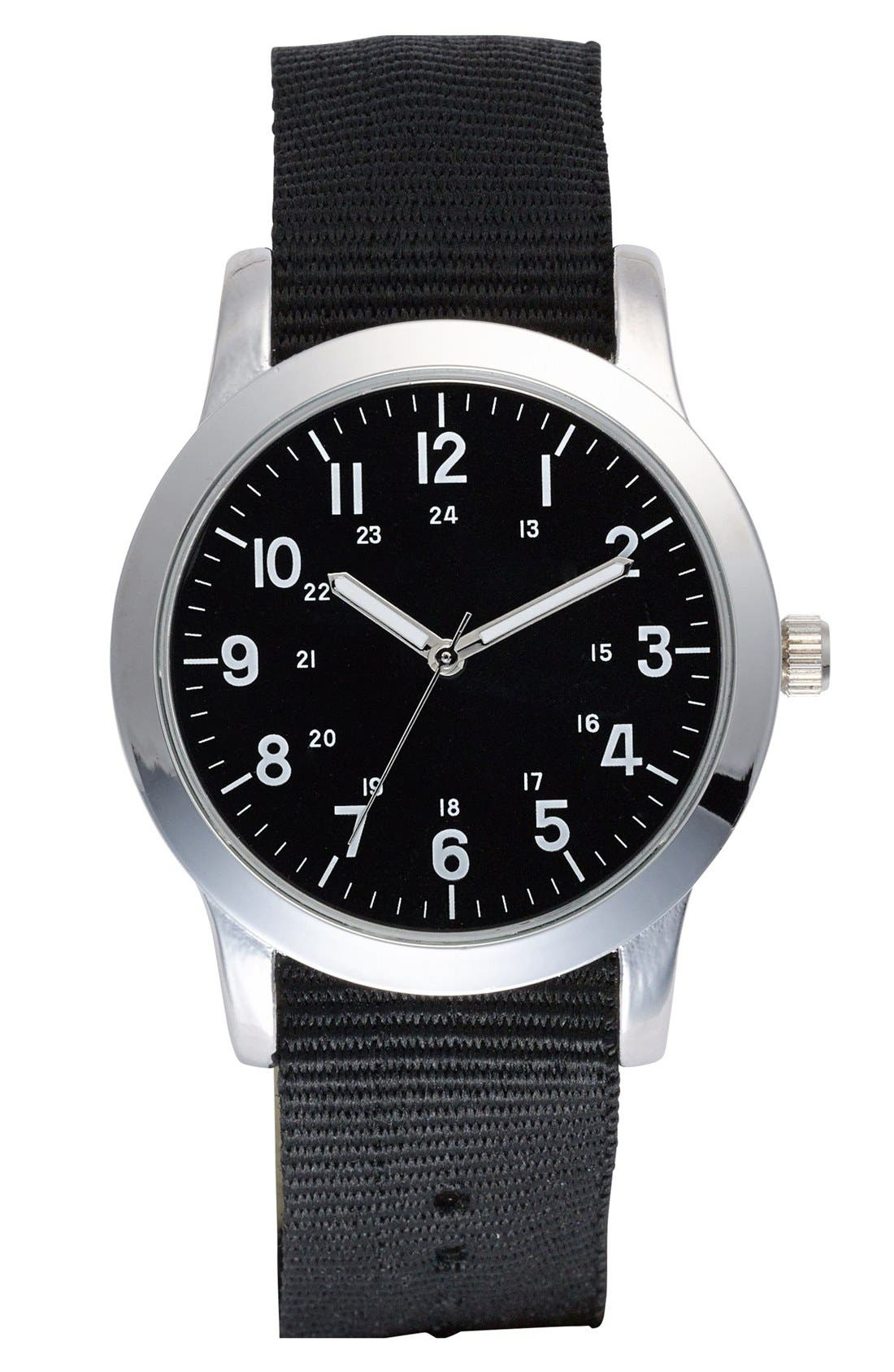 Main Image - ACCUTIME Round Dial Interchangeable Strap Watch, 40mm