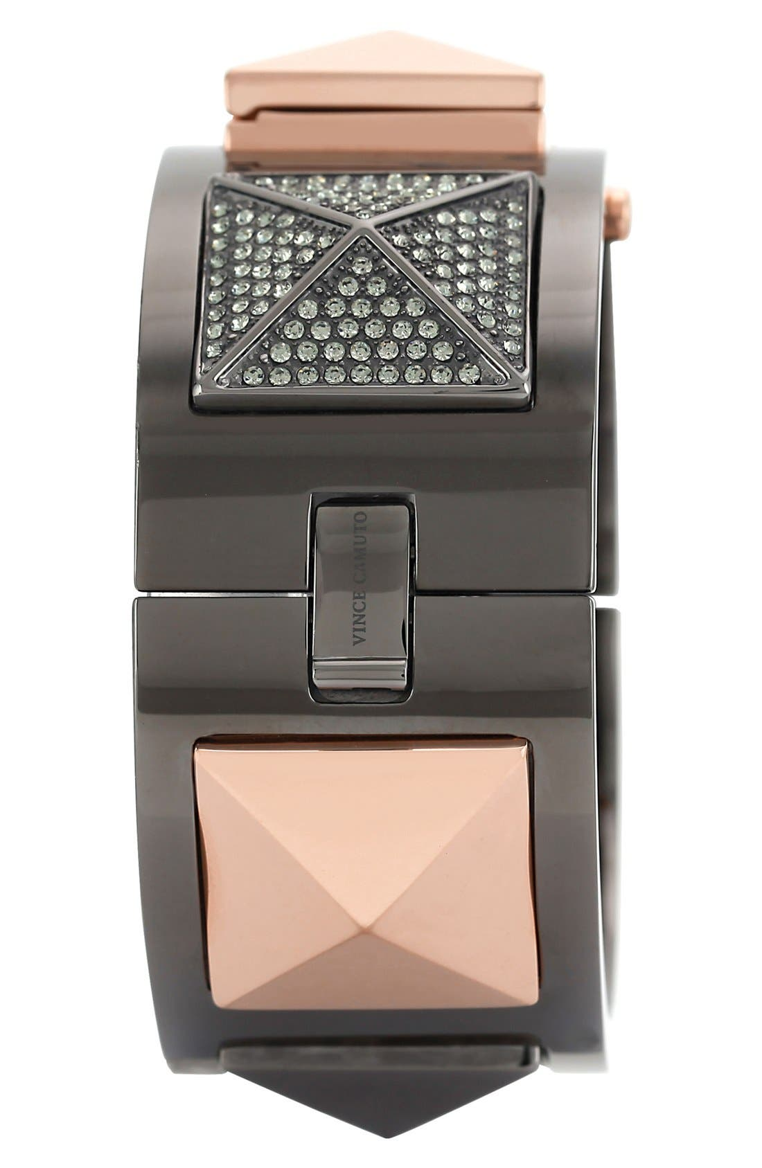 Alternate Image 3  - Vince Camuto Pyramid Case Crystal Accent Bangle Watch, 20mm