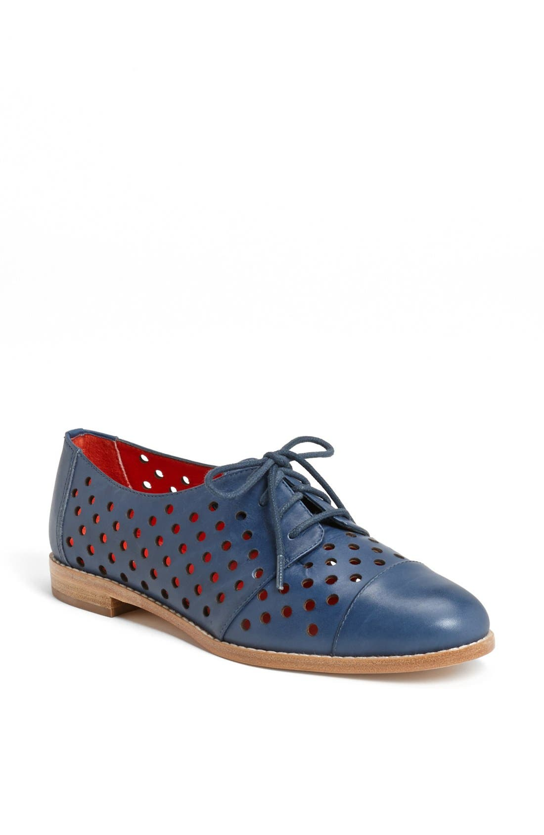 Main Image - kate spade new york 'peekaboo' leather oxford