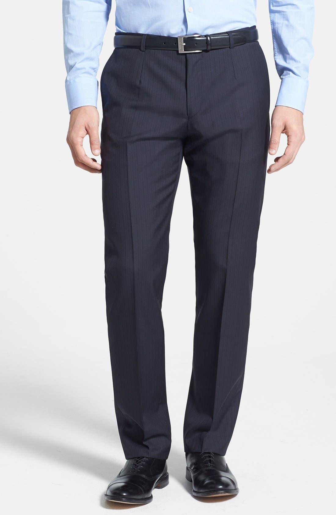Alternate Image 4  - HUGO 'Amaro/Heise' Trim Fit Wool Blend Suit
