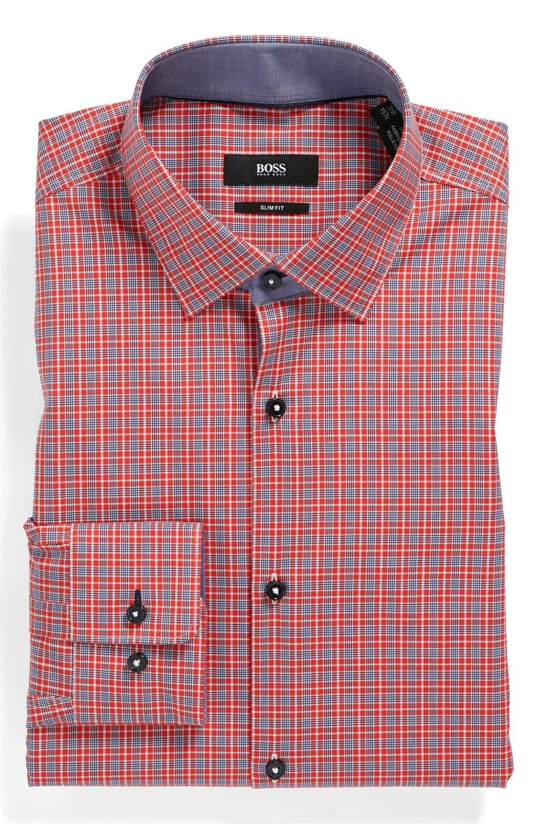 Main Image - BOSS HUGO BOSS 'Juri' Slim Fit Easy Iron Dress Shirt