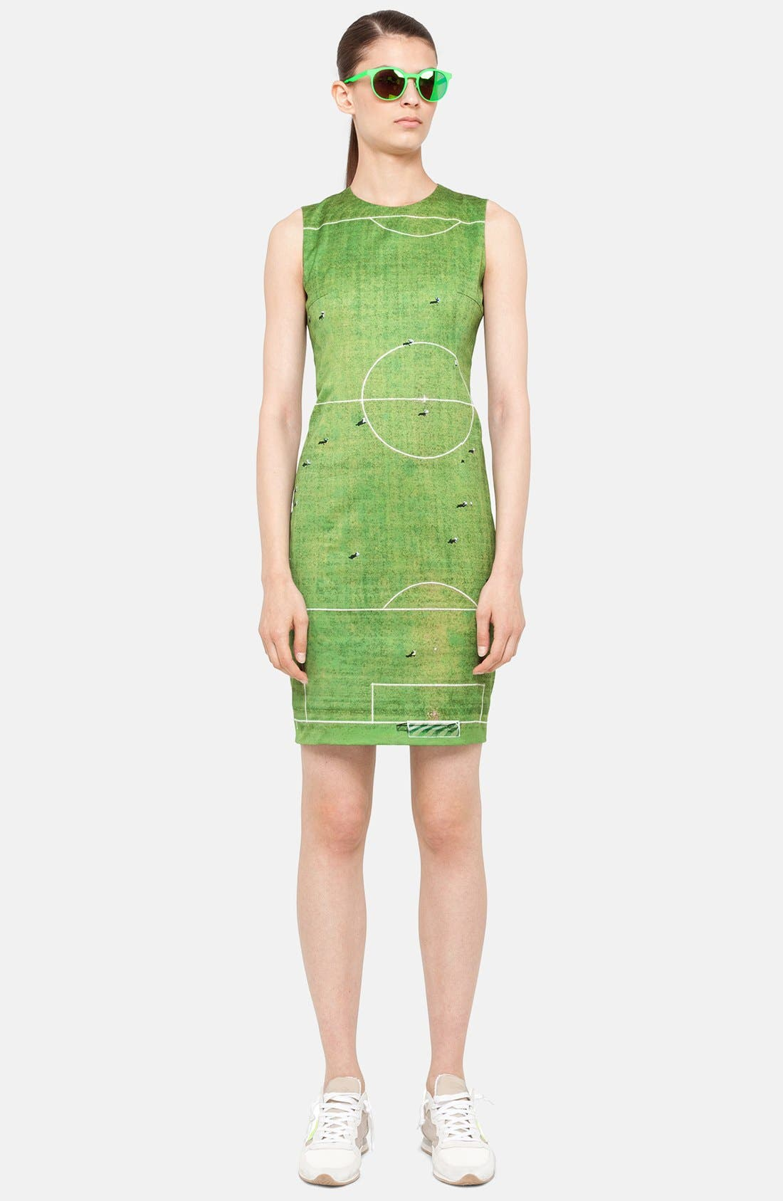 Alternate Image 1 Selected - Akris punto Field Print Sheath Dress
