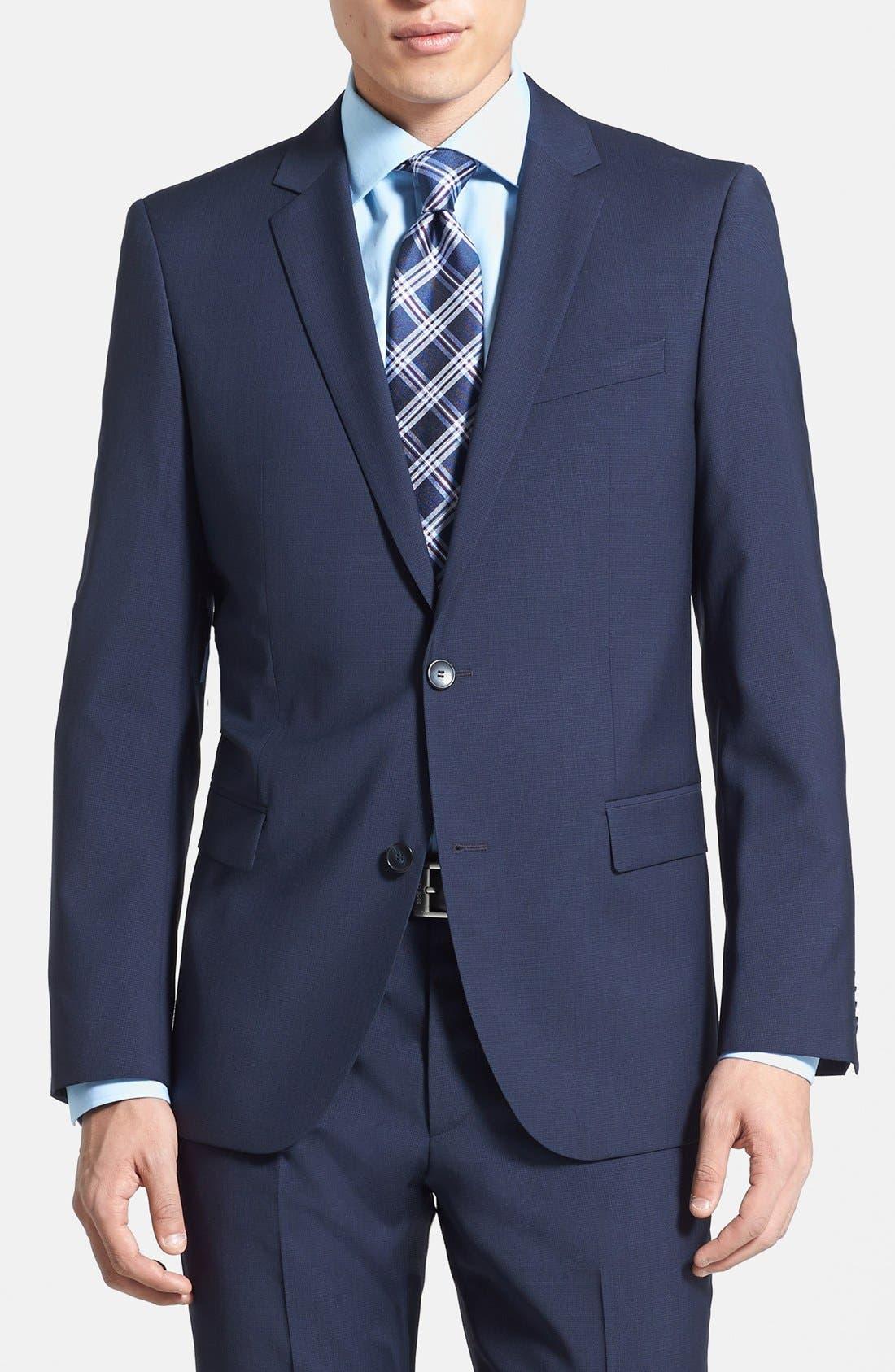 Alternate Image 3  - HUGO 'Astro/Hill' Extra Trim Fit Suit