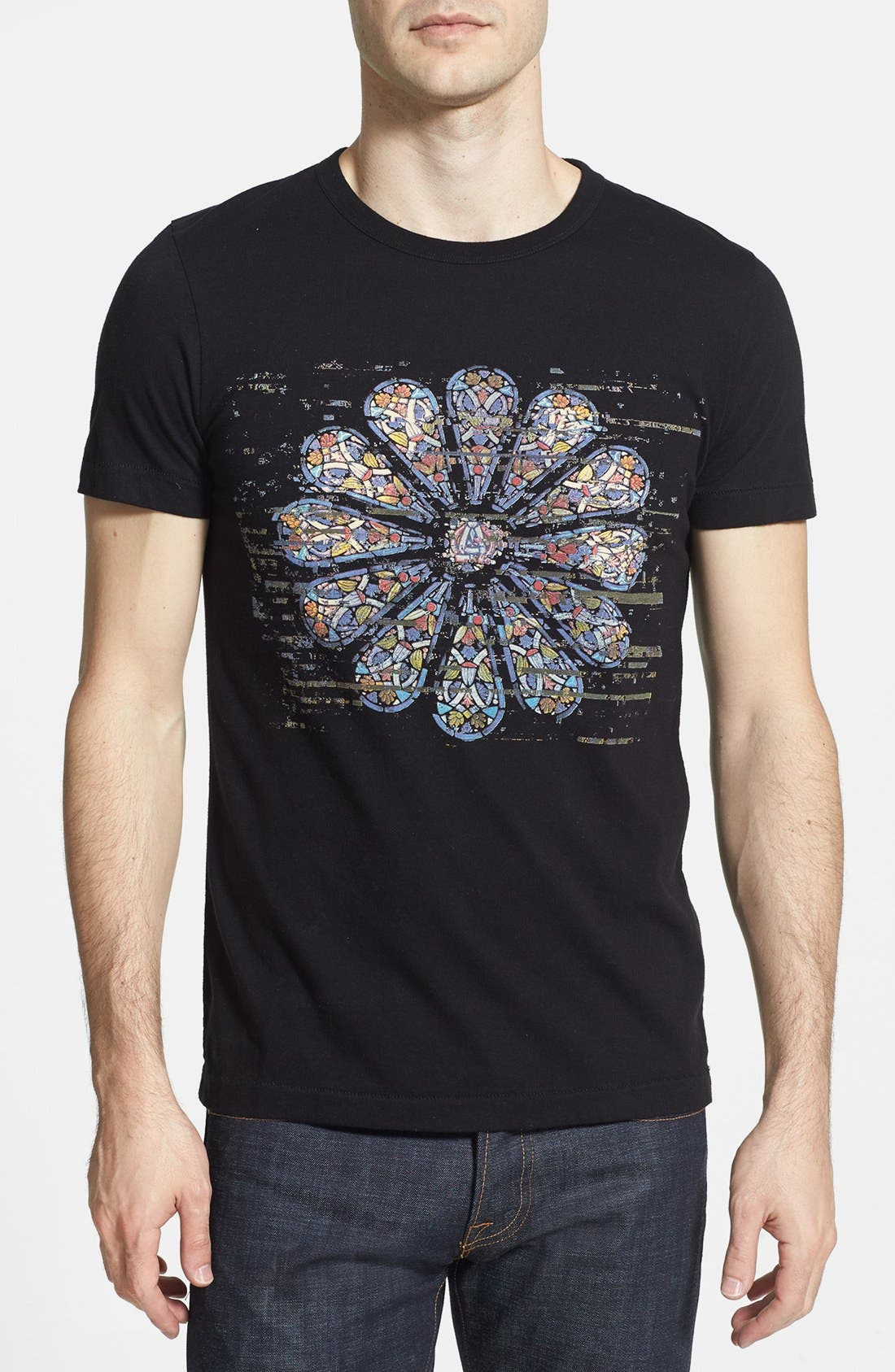 Alternate Image 1 Selected - French Connection 'Church Glitch' T-Shirt