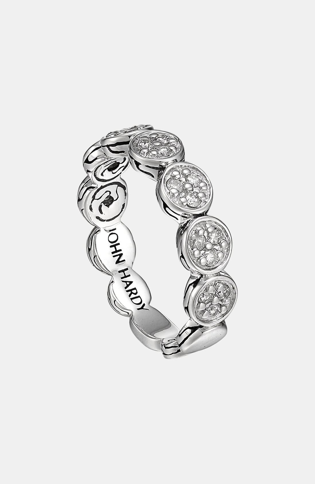 Alternate Image 1 Selected - John Hardy 'Dot' Pavé Diamond Ring