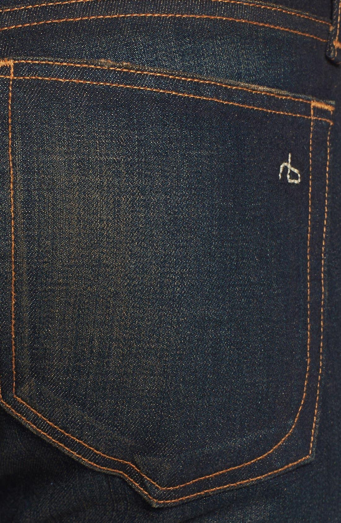 Alternate Image 3  - rag & bone/JEAN 'The Dre' Slim Fit Boyfriend Jeans (Charing)