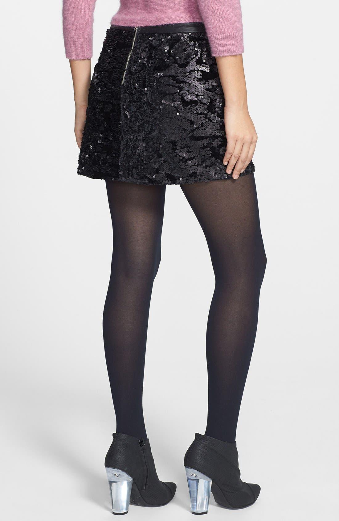 Alternate Image 2  - ASTR Sequin Velvet Miniskirt