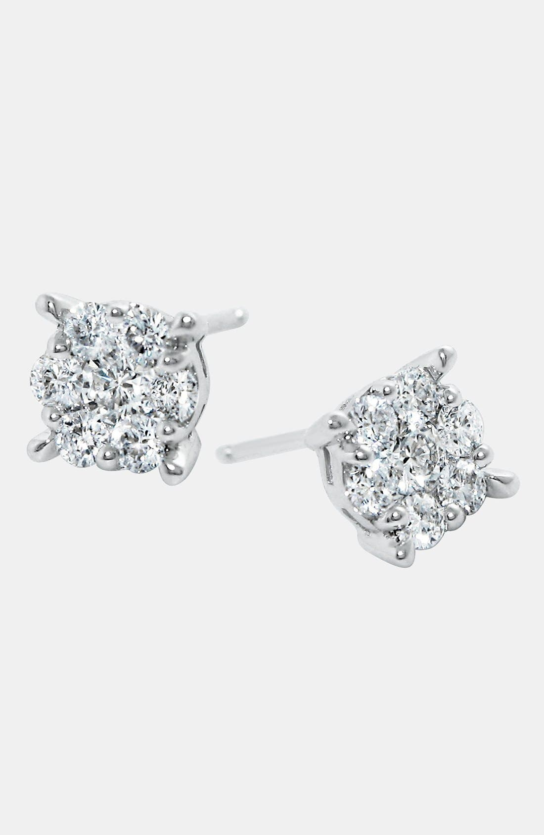 Alternate Image 1 Selected - Bony Levy 'Lucky 7' Diamond Earrings (Nordstrom Exclusive)