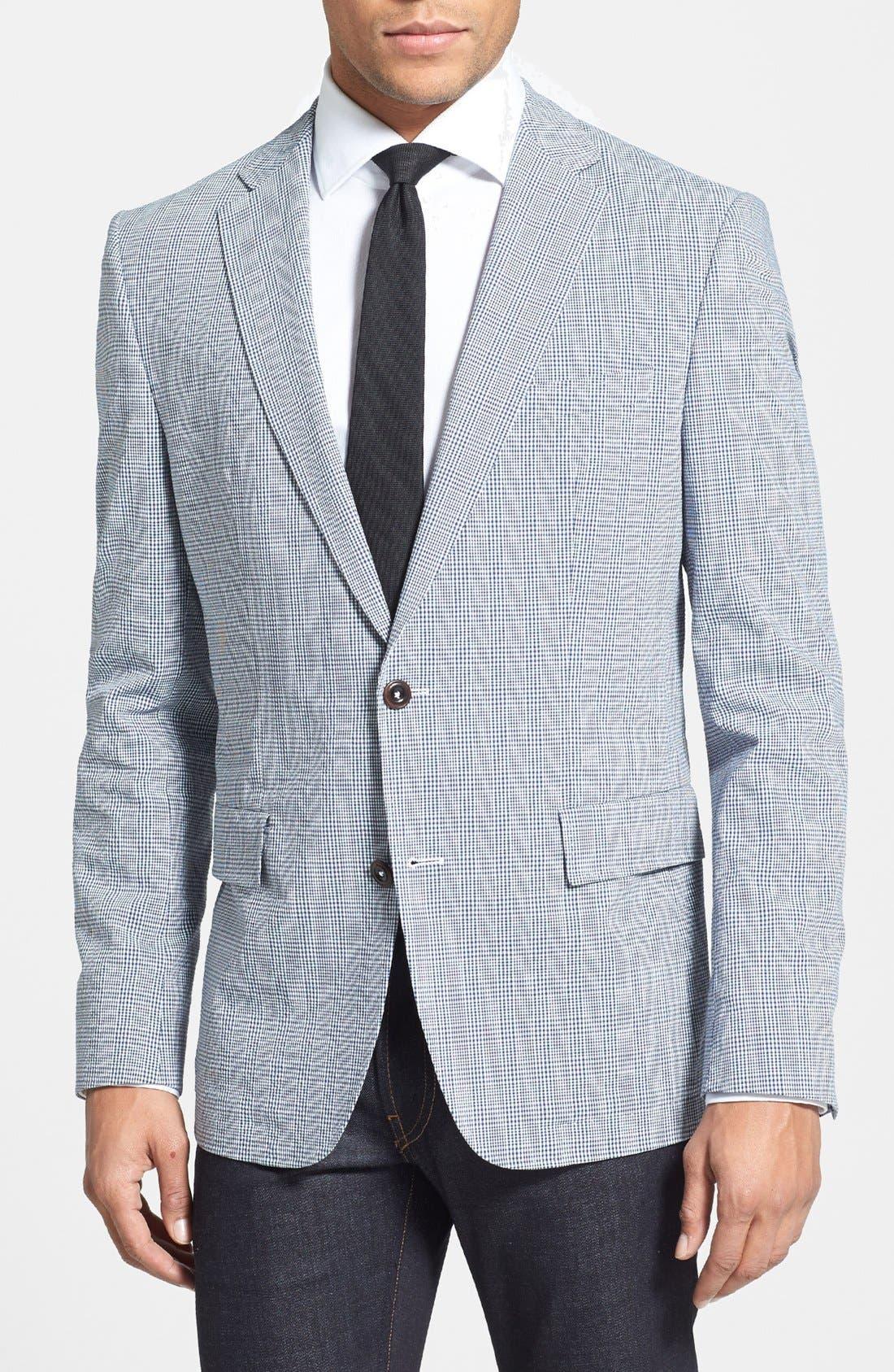Main Image - BOSS HUGO BOSS 'Noris' Trim Fit Plaid Sportcoat
