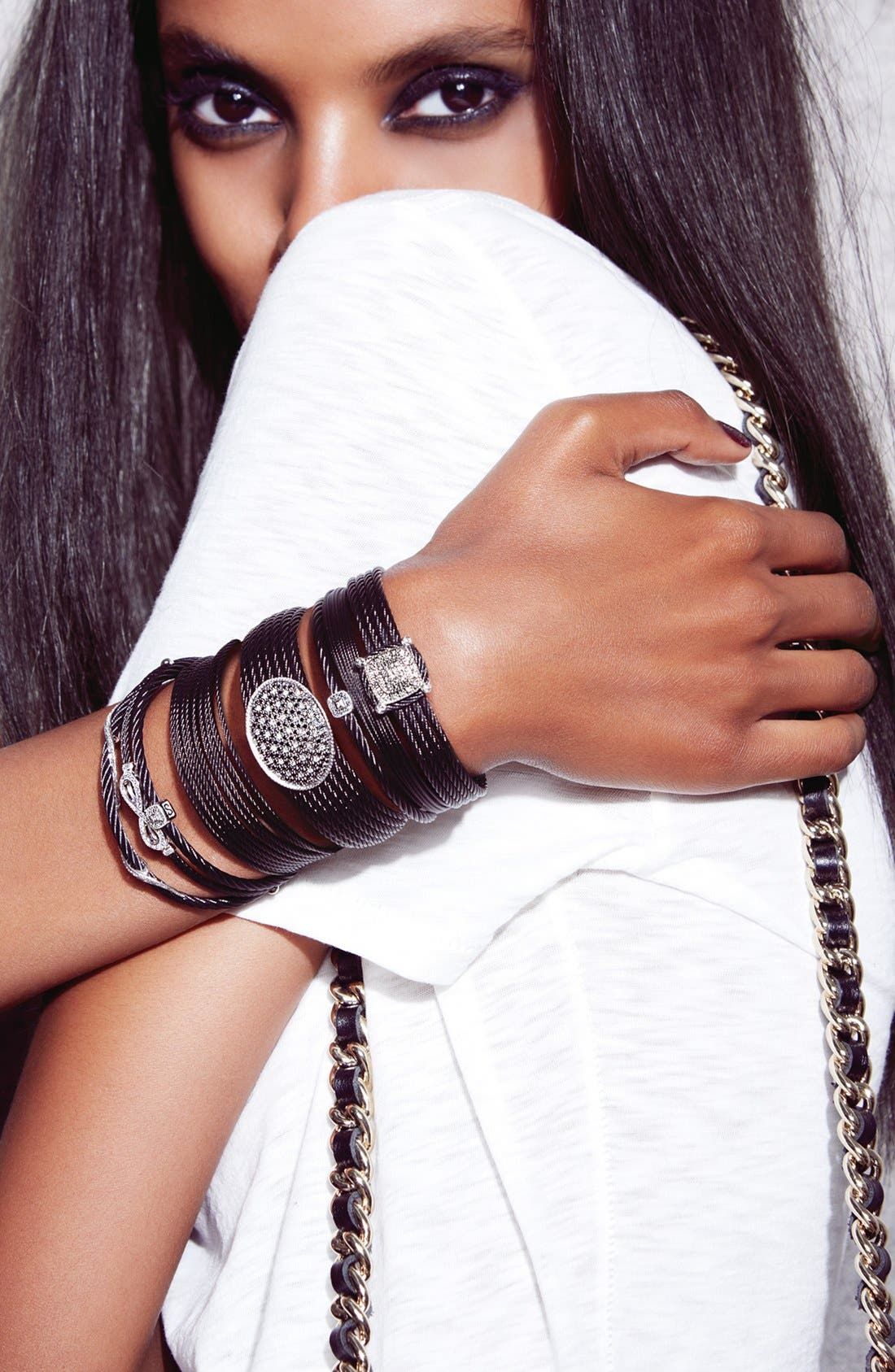 Alternate Image 2  - ALOR® Diamond Twist Bracelet