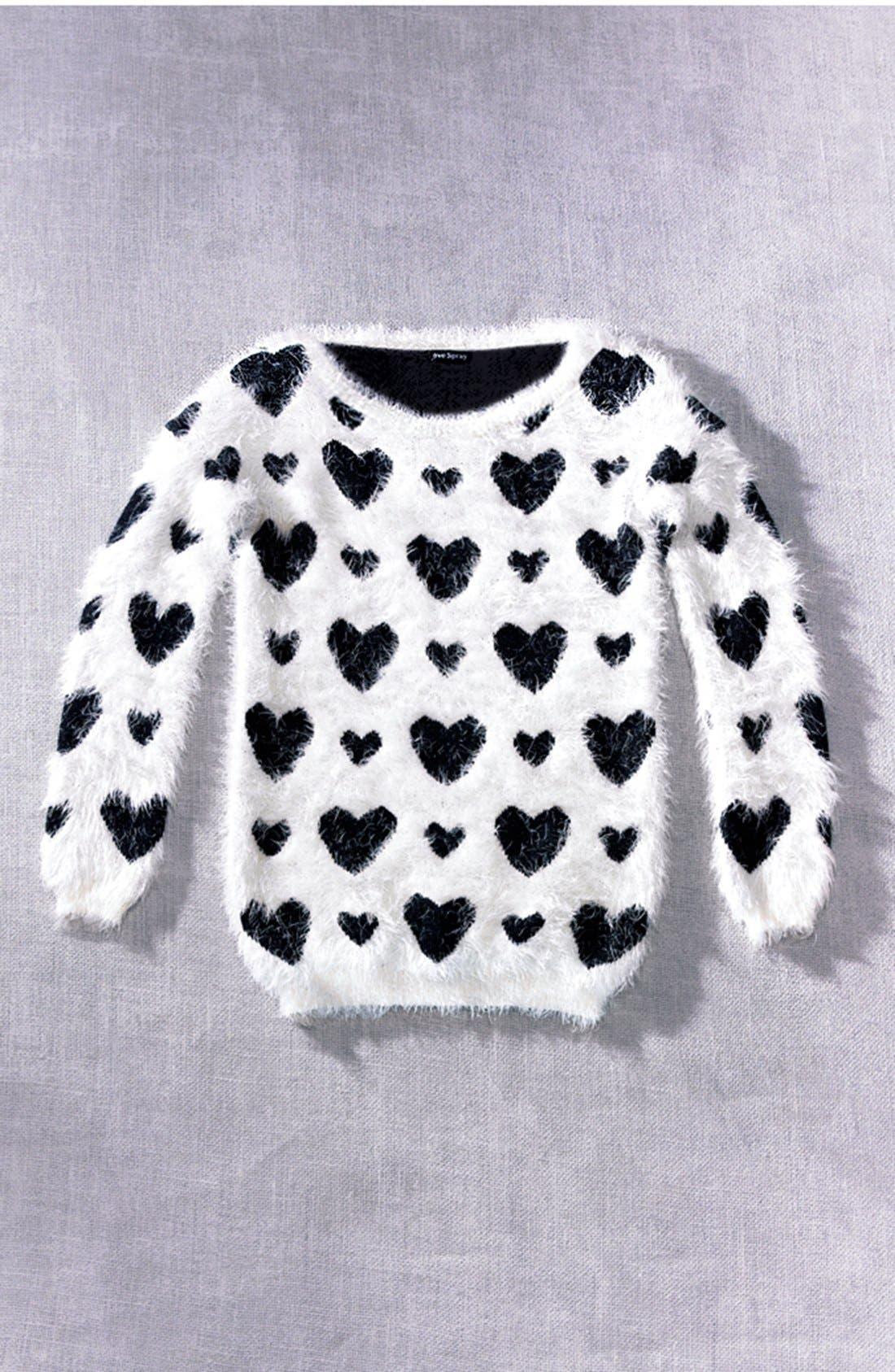 Alternate Image 4  - Robbi & Nikki Textured Heart Sweater