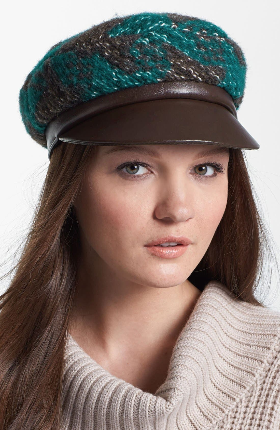 Alternate Image 1 Selected - Tarnish Bouclé Newsboy Cap