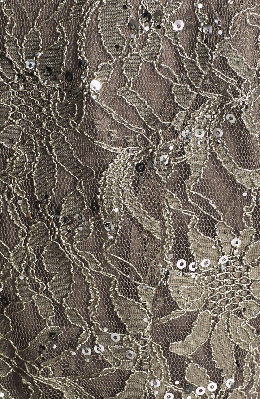 Alternate Image 2  - Alex Evenings Belted Lace Blouse (Plus Size)