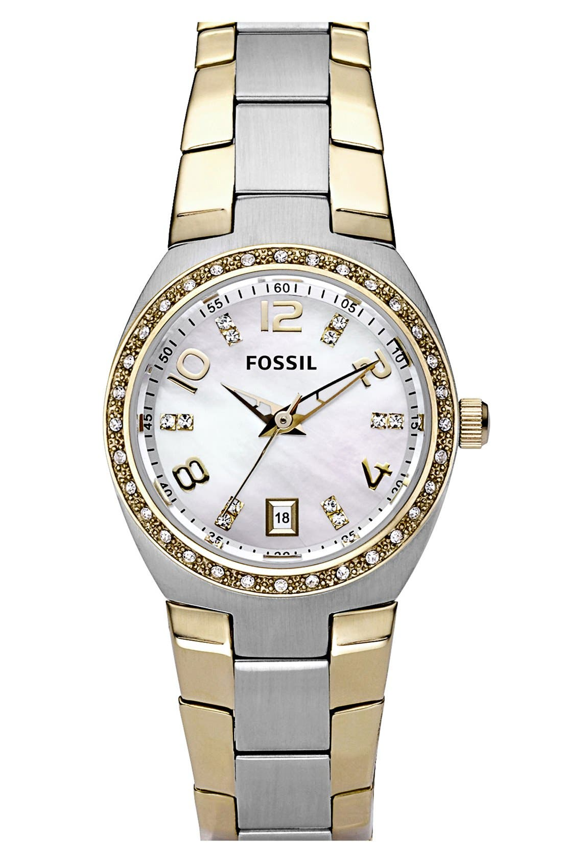 Main Image - Fossil Crystal Dial Watch, 28mm