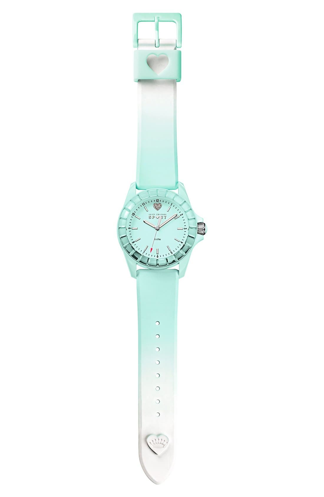 Alternate Image 4  - Juicy Couture 'Sport' Crystal Bezel Silicone Strap Watch, 40mm