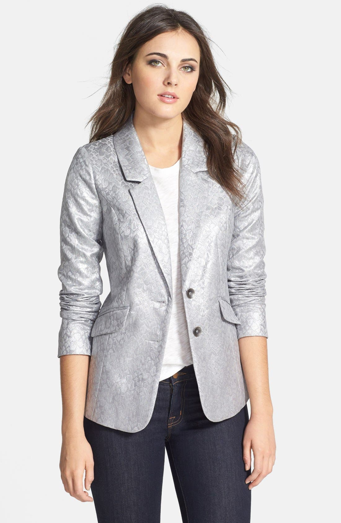 Alternate Image 1 Selected - kensie Foil Brocade Jacquard Jacket