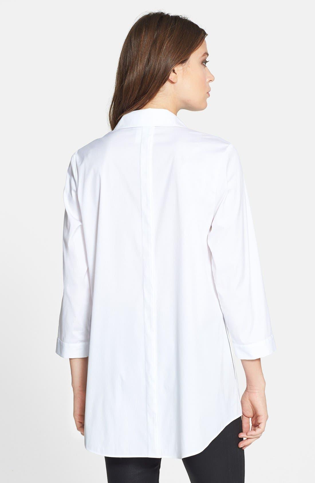 Alternate Image 2  - Lafayette 148 New York 'Tierny - Excursion Stretch' Tunic Shirt
