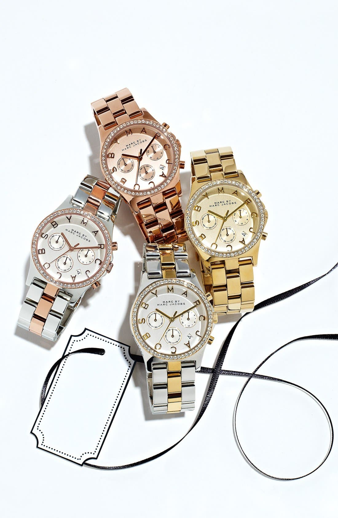Alternate Image 6  - MARC JACOBS 'Henry' Chronograph & Crystal Topring Watch
