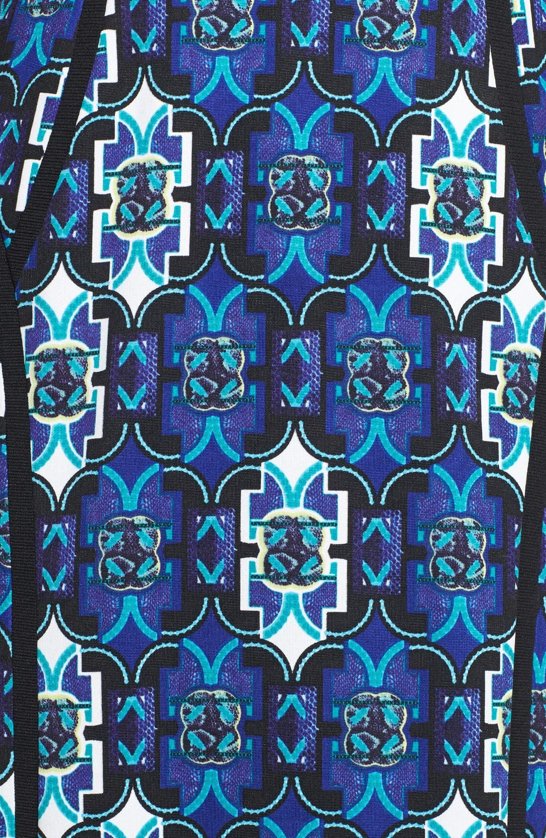 Alternate Image 3  - Marc New York by Andrew Marc Seamed Print Ponte Sheath Dress