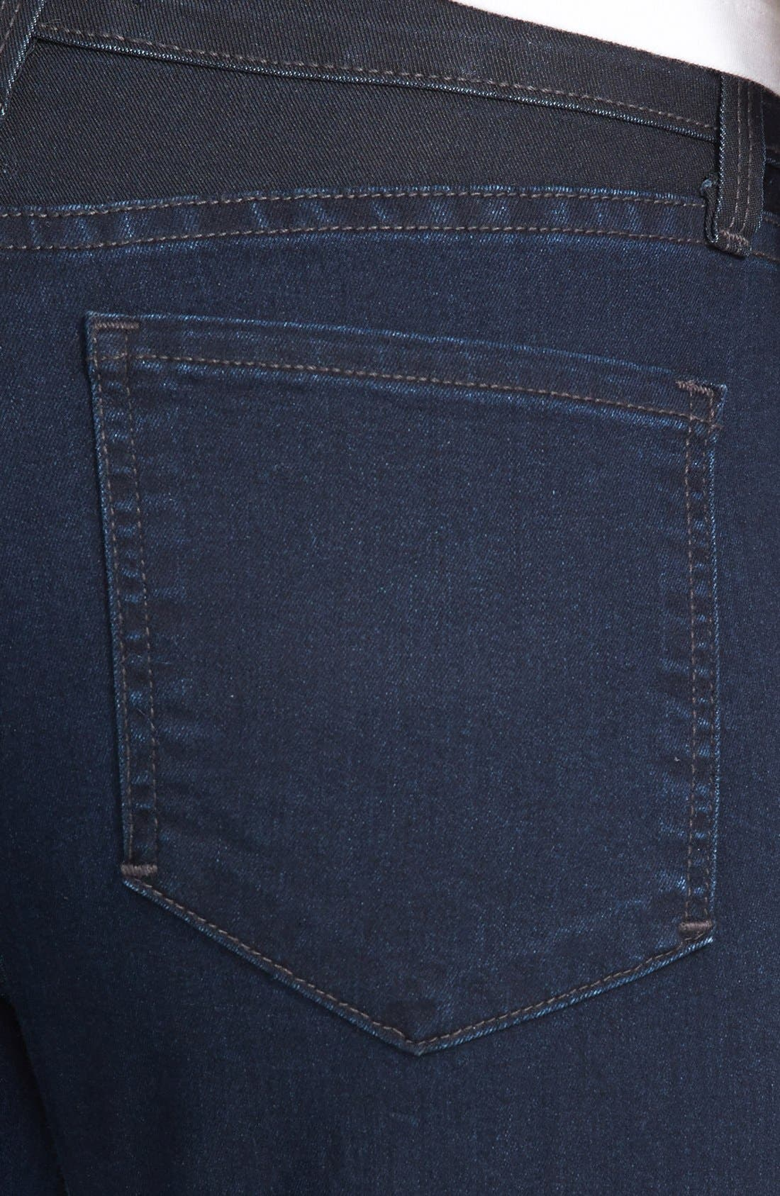 Alternate Image 3  - NYDJ 'Alexandra' Tuxedo Stripe Stretch Skinny Jeans (Covina)