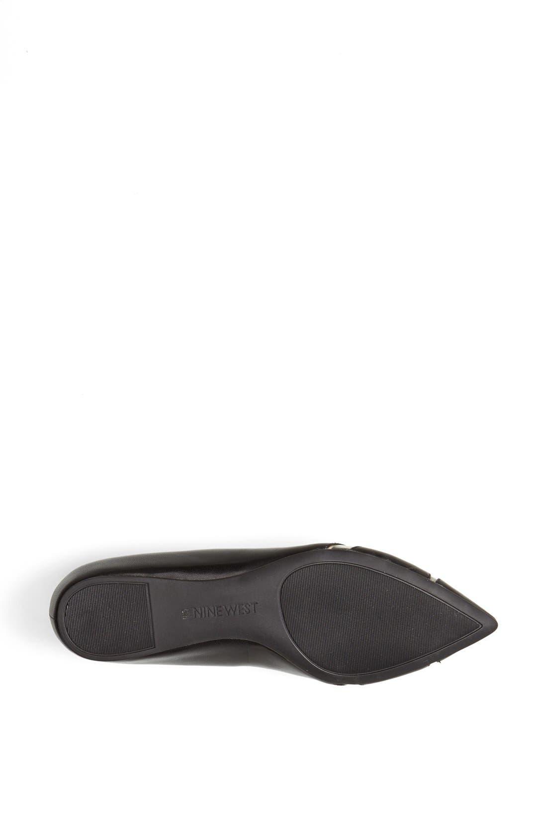 Alternate Image 4  - Nine West 'Auro' Pointy Toe Flat