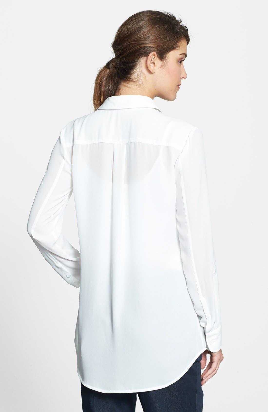 Alternate Image 2  - Vince Camuto Contrast Trim Roll Sleeve Blouse (Regular & Petite)