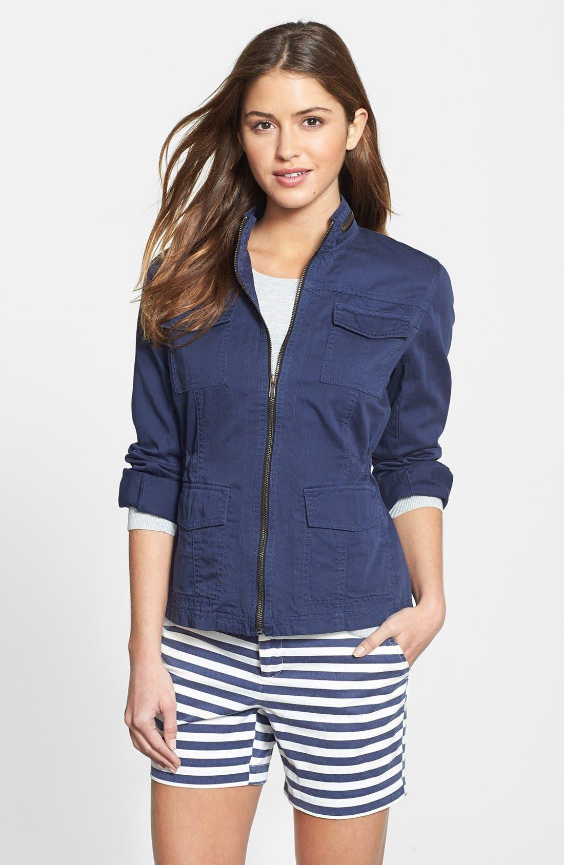 Main Image - Caslon® Utility Jacket (Regular & Petite)