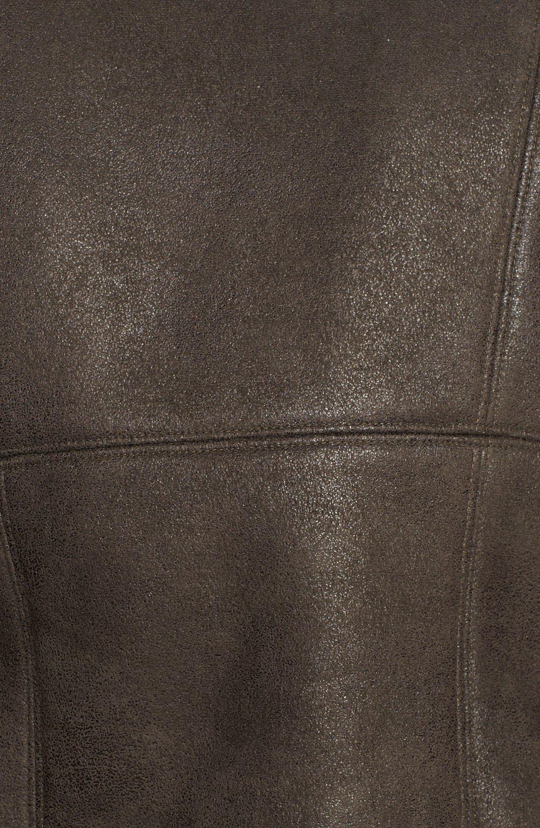 Alternate Image 3  - Mural Faux Shearling Moto Jacket