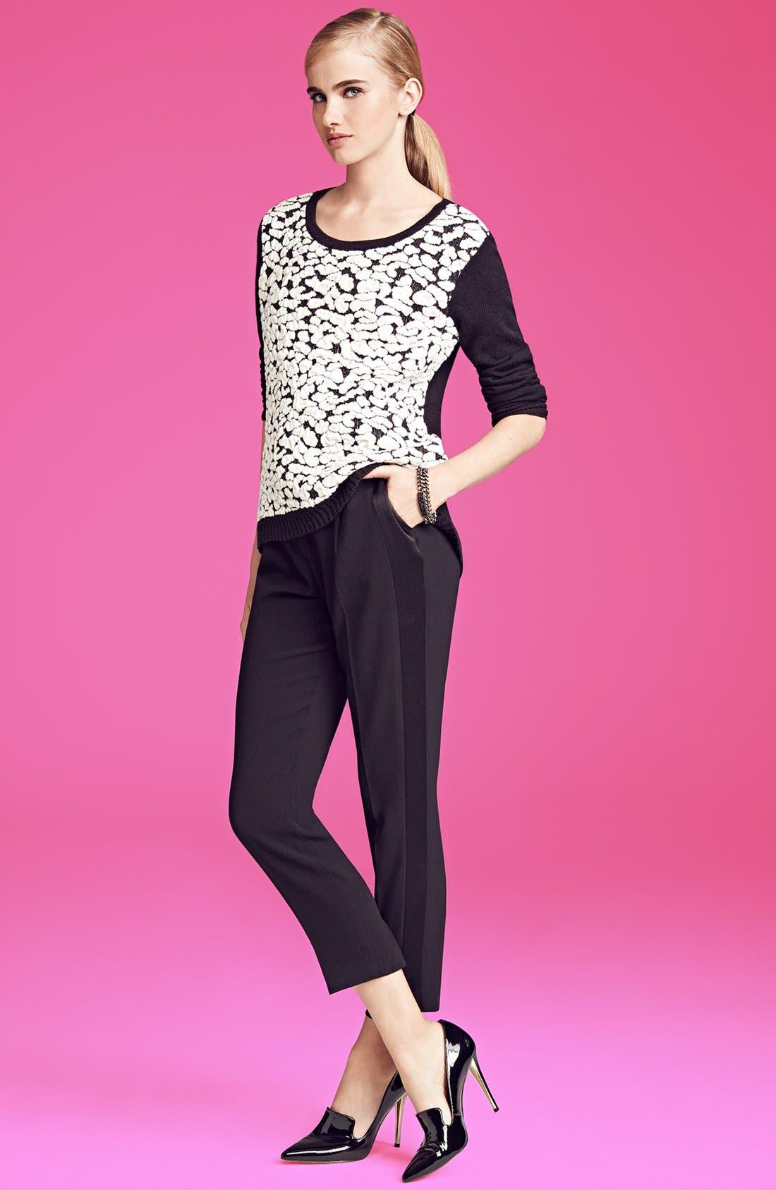 Alternate Image 5  - Trouvé Tuxedo Stripe Crop Pants